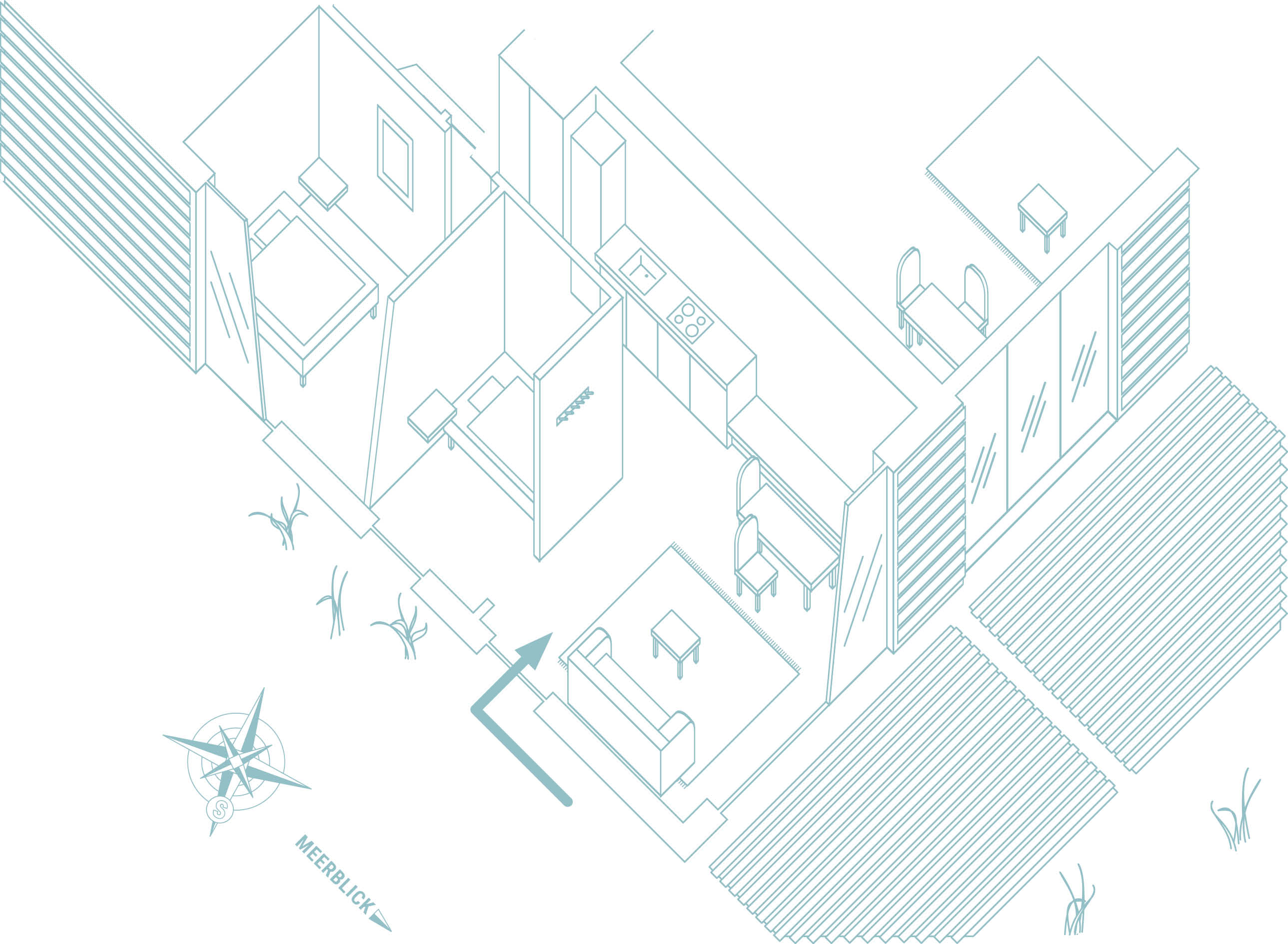 Grundriss Erdgeschoss im Seminarhaus